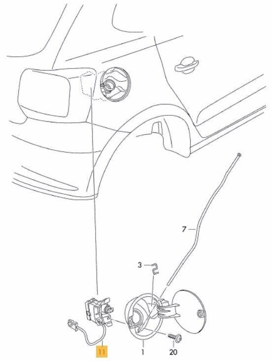Neu Original VW VW VW Polo 09-18 Benzin Tür Kappe Stellmotor Öffner 6c0810773 ccb88f