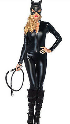 Women Halloween Funny Dress Anime Catwoman Costume Adult Sexy Cat Gothic Cosplay