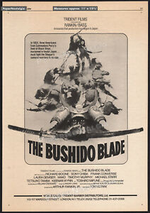 THE-BUSHIDO-BLADE-Orig-1978-Trade-AD-poster-TOSHIRO-MIFUNE-RICHARD-BOONE-1981