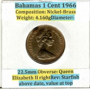 Bahamas-1-Cent-coin-1990-Starfish