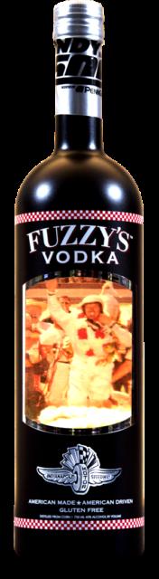 1961 Indianapolis 500 Winner AJ Foyt Commemorative Fuzzy's Vodka Empty Bottle