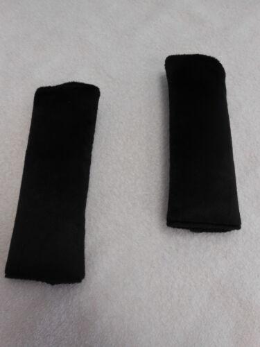 Seat Belt Covers Black Minky Child Car Seat Highchair Pram Stroller