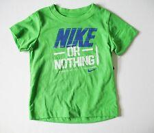 Nike Boys' Nike or Nothing Short Sleeve T-Shirt, Green Pulse, Size 5