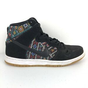 new product 5e983 997bd Details about Nike Dunk High Premium SB Aztec Geometry Mens Sneakers  313171-030 Black Size 8.5