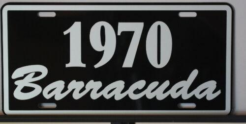METAL LICENSE PLATE 1970 BARRACUDA PLYMOUTH E BODY MOPAR GRAN COUPE 340 383