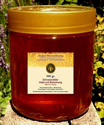 Honig Bienenhonig Schwarzwälder Wald u Blütenhonig 500 gr flüssig