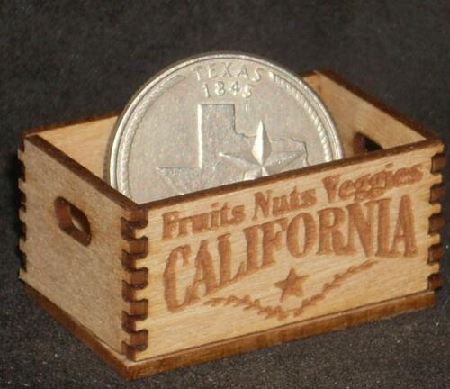 Dollhouse Miniature California Fruit /& Nuts Produce Crate 1:12 Farm Food Market