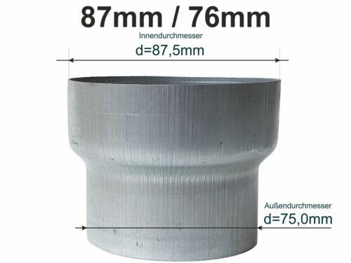 Zink Reduzierstück Fallrohr Reduzierung d=87//76mm oder Übergang auf HT 75mm