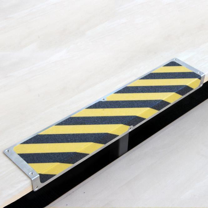 Antirutsch Kantenprofil Aluminium Nasszonenbelag schwarz gelb 120x1000x45