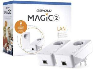 Devolo Magic 2 Starter Kit Powerline LAN Erweiterung Steckdose 2400...