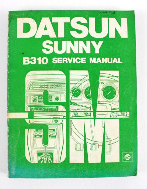 datsun sunny b310 series sept 1978 factory workshop manual ebay rh ebay com au Nissan VQ35DE Engine Specs Nissan VQ35DE Engine Specs
