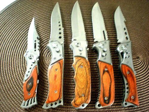 Konvolut Springmesser KnifeFolding Messer Taschenmesser Einhandmesser Holzgrif