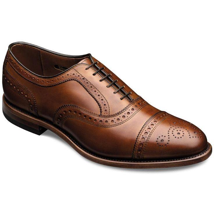 Hecho a mano para hombres negruzco Bronceado Semi Brogue Formal Zapatos Caballeros