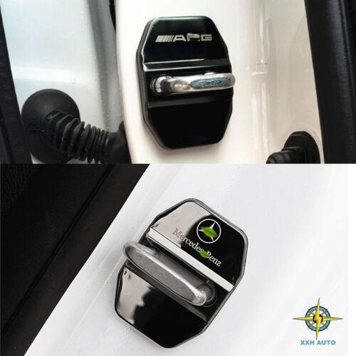 Black Stainless AMG Logo Car Door Lock No Rusting Emblem Badge Fit For Mercedes