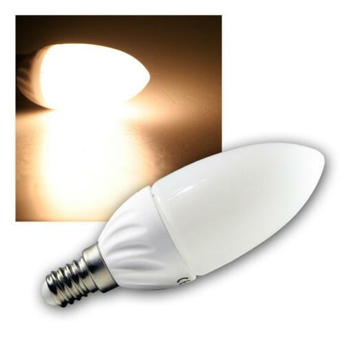 16 SMD LEDs warmweiß 220lm Leuchtmittel 5 x LED-Kerzenlampe E14 Birne Kerze