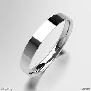 White-Gold-Wedding-Ring-Flat-Court-Shape-Comfort-Fit-High-Polish-Finish