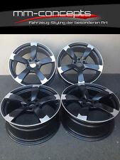 16 Zoll DBV Torino Felgen 7x16 ET45 5x112 Alufelgen Schwarz ABE für Audi Rotor