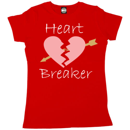 WOMENS HEART BREAKER PRINTED FASHION T-SHIRT