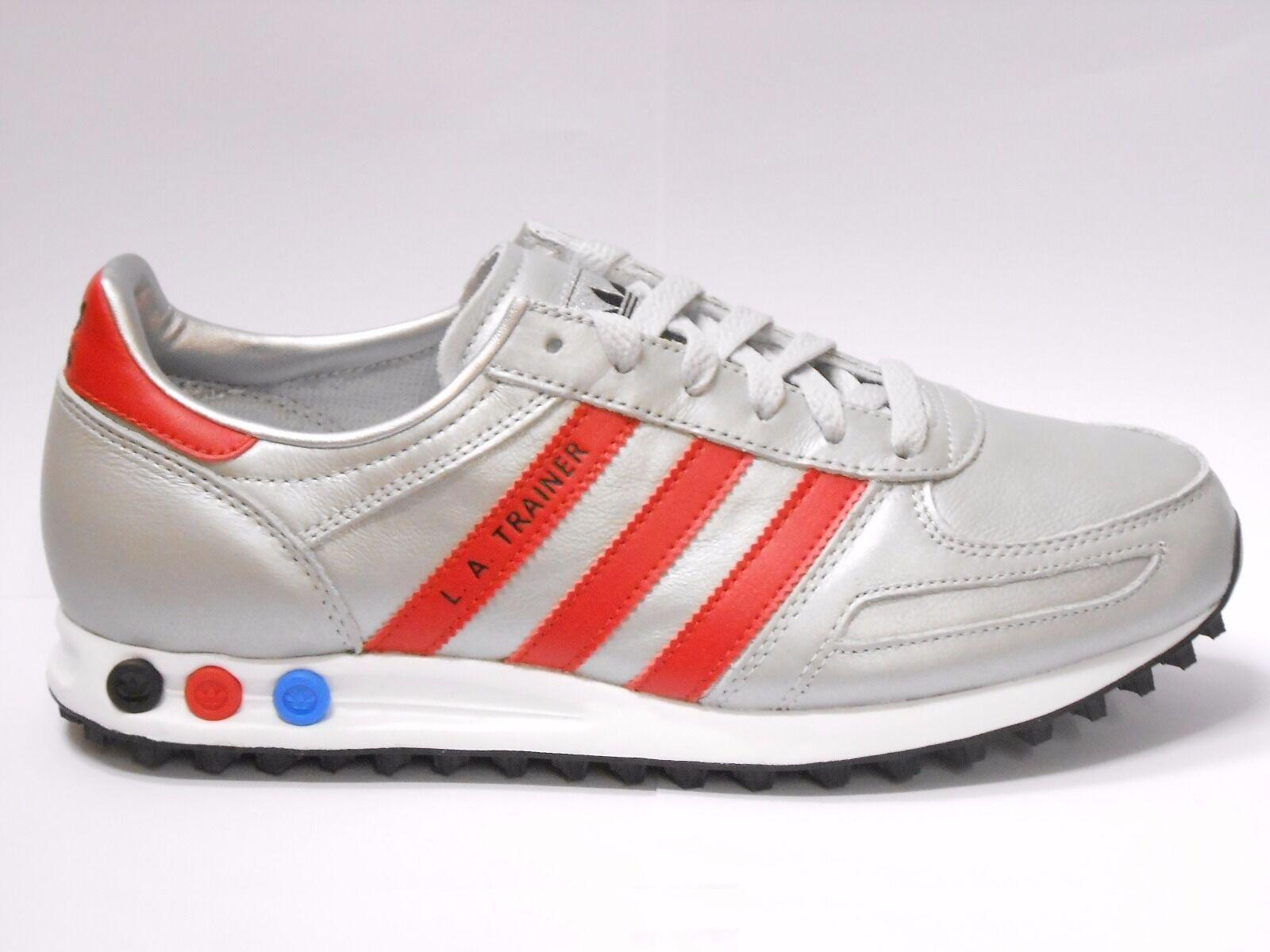 Adidas La Trainer Zapatos Hombre Talla 7.5 Plateado to 11.5 Met Rojo Plateado 7.5 Zapatillas 718a72