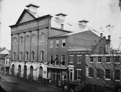 Lincoln Assassination Ford/'s Theater Black Crepe 1865 8x10 US Civil War Photo