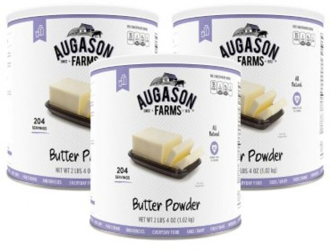 Augason Farms Butter Powder 36 Oz. 3 Pk Dried Emergency Food Supply Kit Prepper