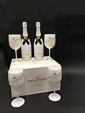 2x Moet Chandon Ice Imperial Champagner 0,75l 12% Vol + 4 Gläser + Holzkiste