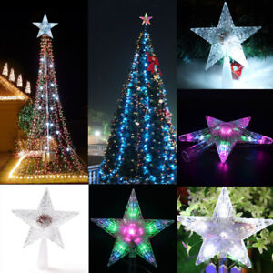 Led Twinkling Lights Indoor Outdoor Christmas Tree Topper Star