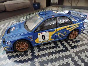 SUBARU-IMPREZA-WRX-STI-4-PORTES-BURNS-REID-AUTOART-1-18-Auto-Art-Rallye