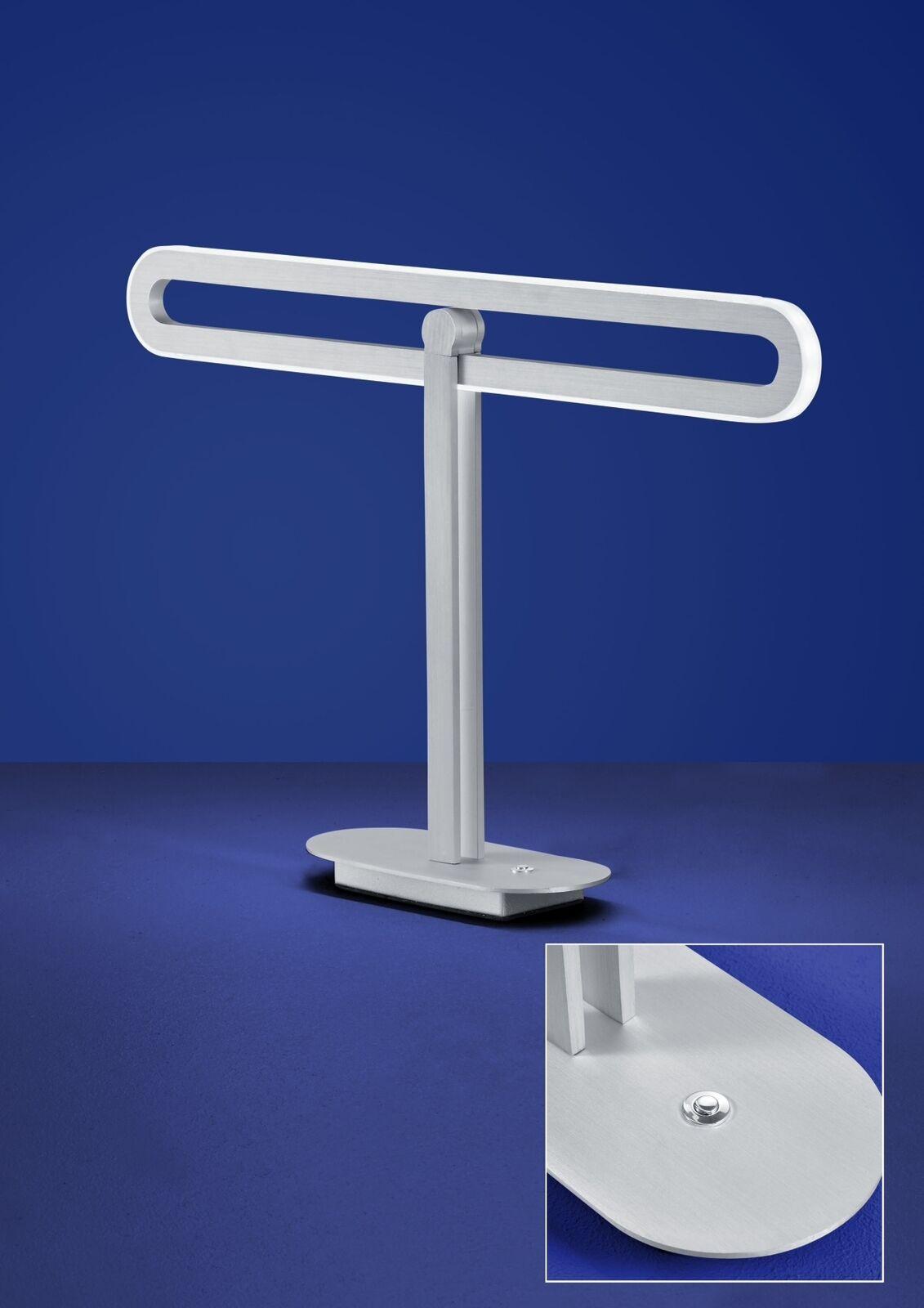 LED alemana lámpara de mesa níquel tastdimmer 1400 lúmenes altura 33cm