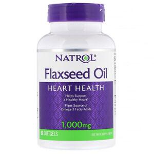 Natrol-Omega-3-olio-di-semi-di-lino-1000mg-x90-Capsule