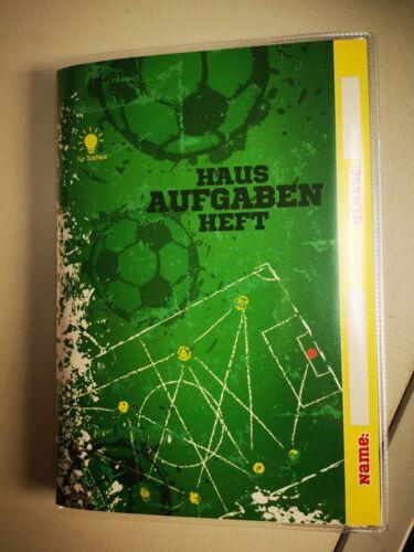 Trötsch Hausaufgabenheft für Schlaue Fußball grün Fußballfeld 48 Wochen