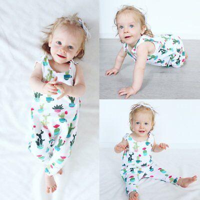 Newborn Infant Kids Baby Boy Girl Bodysuit Romper Jumpsuit Summer Clothes Outfit