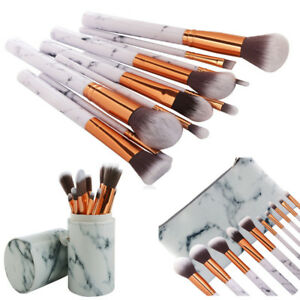 2a6f05319be46 Details about High Grade Marble Makeup Brushes Blending Eyeshadow Blush  Foundation Brush Case