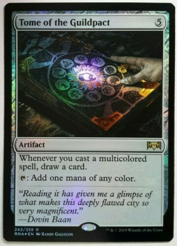1x FOIL Tome of the Guildpact Near Mint Magic legacy cube Ravnica Allegiance RNA