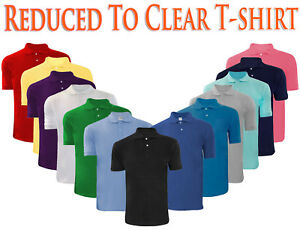 Para-Hombres-Camisa-Polo-Pique-T-Shirts-Liso-Polialgodon-Camisetas-Tops-Multi-Color-S-5XL