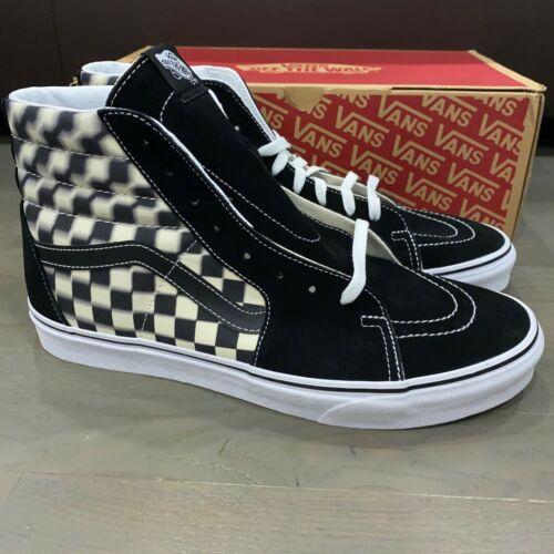 Details about  /Vans Sk8 Hi Checkerboard 3D Blur Black Off White Men/'s Shoes Size 11.5 New