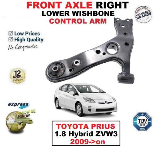 Essieu avant droit inférieur Wishbone Bras pour TOYOTA PRIUS 1.8 HYBRID ZVW3 2009-2015