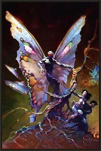 Mothman by Frank Frazetta Fantasy Laminated Poster 24.5 x 36.5 inches