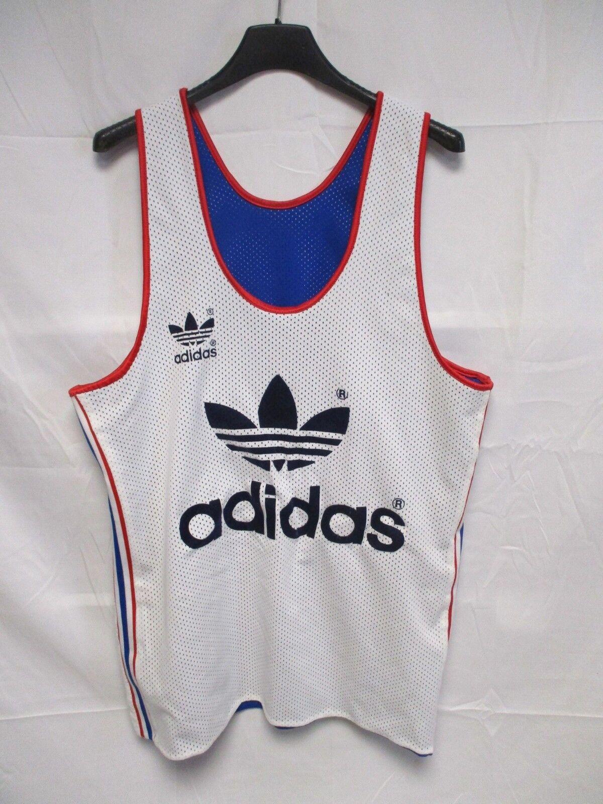 Maillot basket EQUIPE de FRANCE vintage ADIDAS Trefoil shirt trikot oldschool M