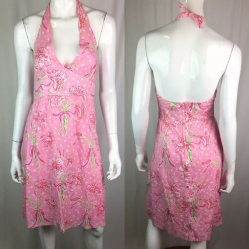 Lilly Pulitzer Women's 0 Pink Floral Polka Dot Hal