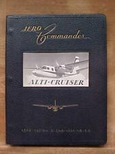 Aero Commander Alti-Cruiser Maintenance Manual aircraft aviation book