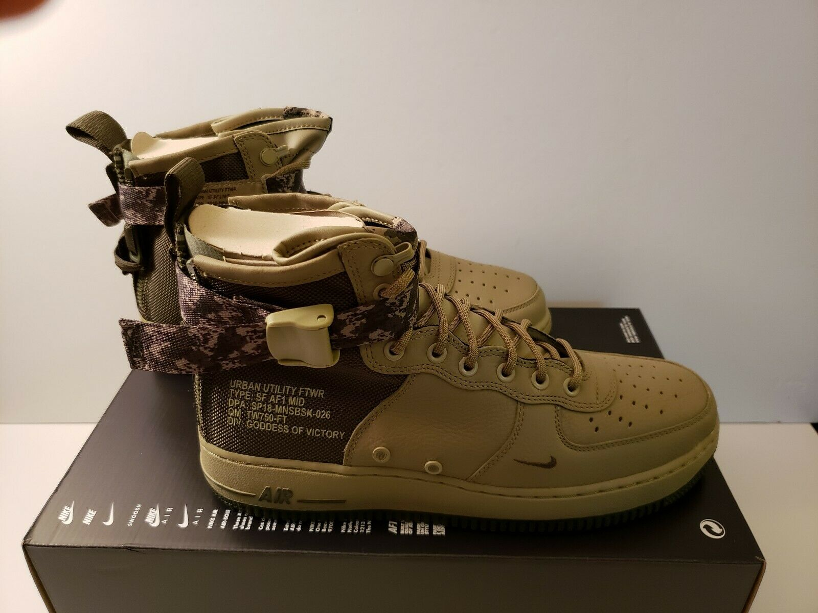 Nike SF AF1 MID MID MID Air Force 1 Men's Size 10 shoes 917753-201 Olive Cargo Khaki NEW a82f2e
