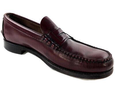 SEBAGO Leather Penny Loafer Slip On Shoes Burgundy Maroon ...