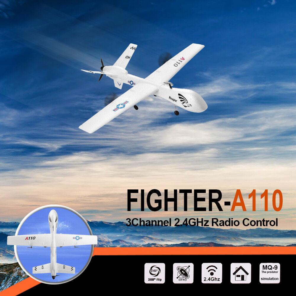 Xk a110 - 565mm spannweite 2.4g 3ch diy - flugzeug rtf festnetz - drohne.