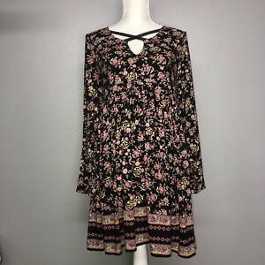 Altar D State Long Sleeve Flower Dress Small Ebay