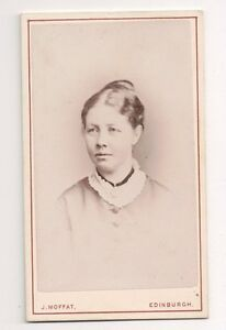 Vintage-CDV-Unknown-Victorian-Woman-Photo-by-J-Moffat-Edinburgh