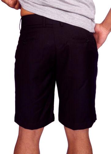 "NEW MENS PLAIN BLACK WALK SHORTS CASUAL FASHION 28/"" 30/"" DESIGNER TAILORED"