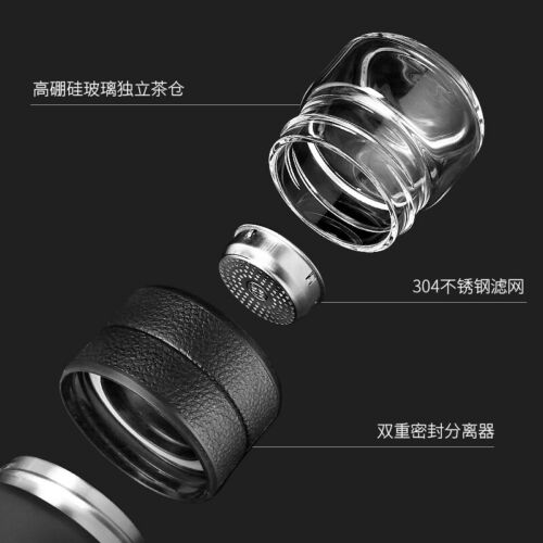 600ml Vacuum Flask for Tea Stainless Steel Thermos Cup With Glass Thermos Mug