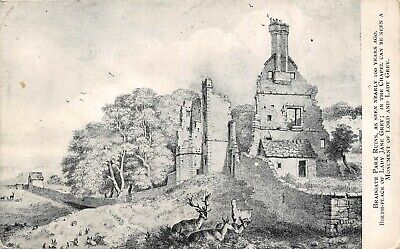 Bradgate Park Ruins From Old Print Lady Jane Grey Dorothy Smithard Qt827 Ebay