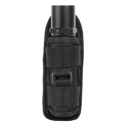 Flashlight Pouch Holster Carry Case Holder with  Degrees Rotatable Belt LJ